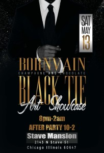 Born Vain Presents:  Champagne and Chocolate Black Tie Art Showcase @ Stave Mansion
